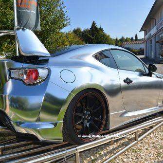 Toyota GT Chrome silber foliert